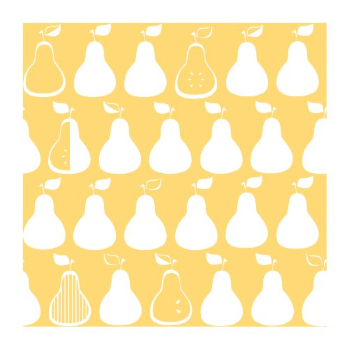 York Wallcoverings Kb8657 Bistro 750 Kitchen Pears Prepasted Wallpaper, Yellow