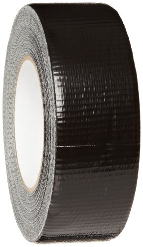 "Brady 80191 180' Length, 2"" Width, B-88 Non Printable Plastic Backed Cloth, Black Color Economy Pipe Banding Tape"