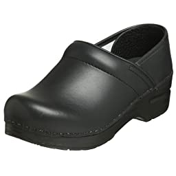 Dansko Women\'s Professional Box Leather Clog,Black,43 EU/12.5-13 B(M) US