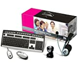 Canyon CN-MMP1 Multi Media Pack- Wireless Keyboard - Mouse - webcam and headsetby Canyon