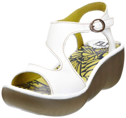 Fly London Women's Bianca Off White Wedges P500261000 7 UK