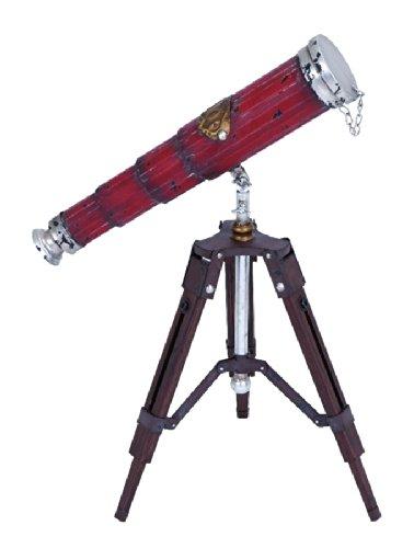 Benzara Old Look Style Free Standing Telescope