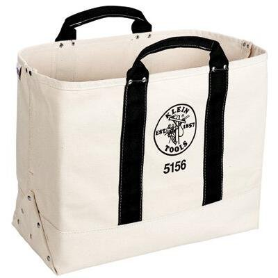 Klein Tools 5156 19-Inch Canvas Double-Layer Tool Bag