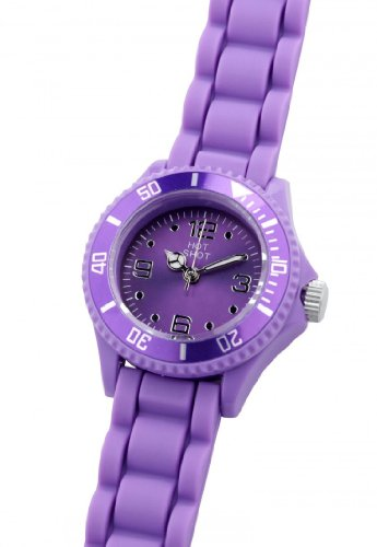 Hot Shot Girl Wristwatch - Analog Quartz, Silicone, Purple - 104