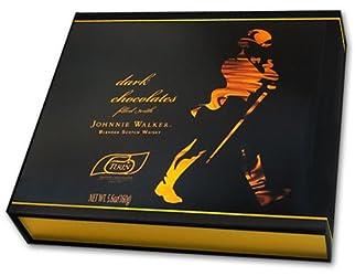 Turin Johnnie Walker Dark Chocolates Filled with Johnnie Walker Blended Scotch Whisky(5.6 Oz Gift Box)