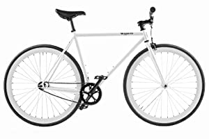 Pure Fix Cycles Glow in the Dark Fixed Gear Single Speed Urban Fixie Road Bike, 54cm/ Medium, Zulu Glow White