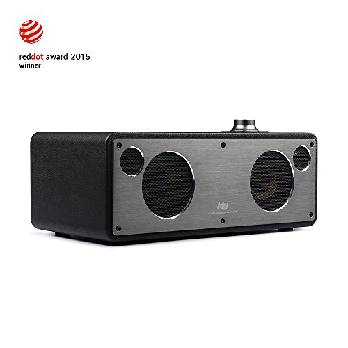 GGMM M3 Bluetooth WiFi Stereo Wireless Leather Speaker System | Featuring 40W Output MultiRoom Sound Home Speakers Airplay / DLNA / Pandora / Spotify / iHeart radio (BLACK)
