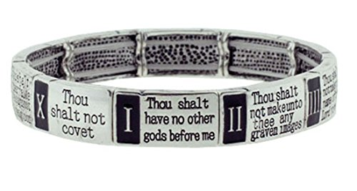 4030037 10 Commandments Stretch Bracelet Christian Scripture Religious Thou