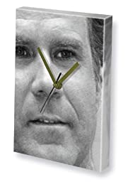 WILL FERRELL - Canvas Clock (LARGE A3 - Signed by the Artist) #js001