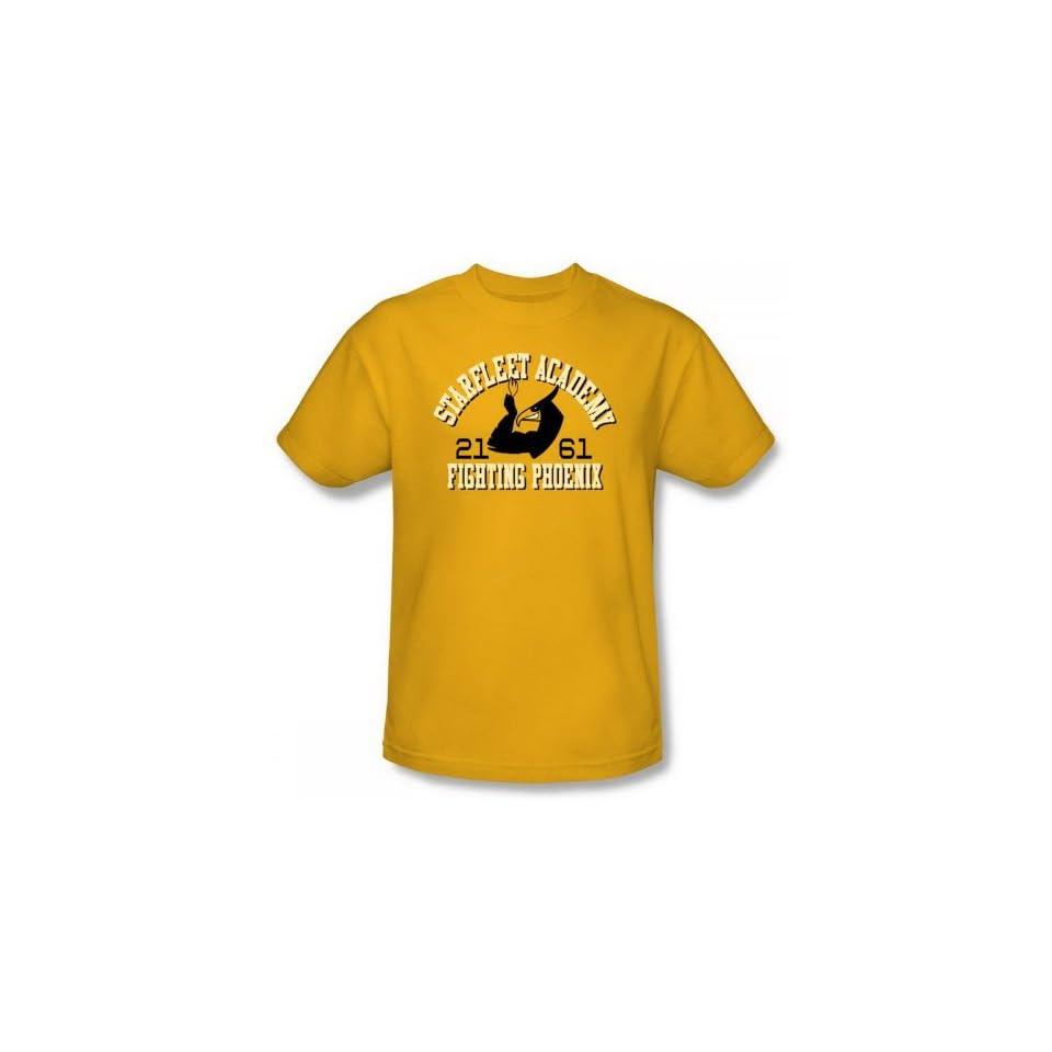 Star Trek SFA Fighting Phoenix Go Fleet Gold Adult Shirt CBS868 AT Shirt Size Small