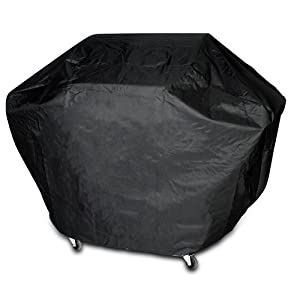 Housse bâche de protection pour barbecue - 155 x 115 x 65 cm - fermeture à bande velcro - matière PVC