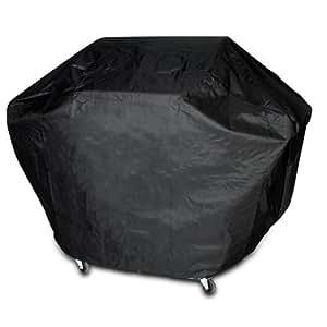 Housse bâche de protection pour barbecue - 170 x 115 x 65 cm - fermeture à bande velcro - matière PVC