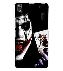 ColourCraft Scary Joker Design Back Case Cover for LENOVO A7000 PLUS
