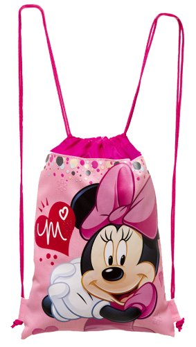 Pink Minnie Mouse Drawstring Backpack - Large Drawsting Bag