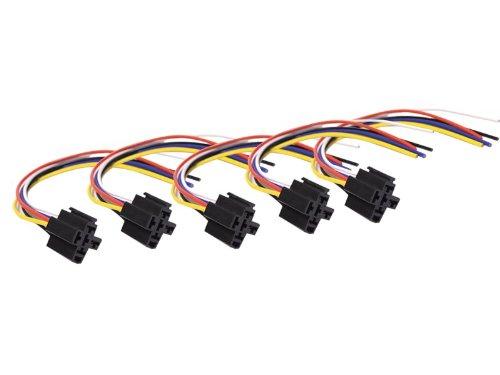 Absolute Usa 5-Pin 12 Vdc Interlocking Relay Socket, 5 Set