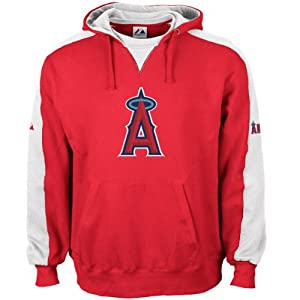 Majestic Los Angeles Angels of Anaheim Red Shaman Hoody Sweatshirt by Majestic
