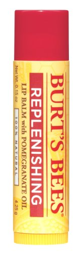 Burt's Bees Replenishing Lip Balm with Pomegranate Oil, .15-Ounce Tubes (Pack of 4)
