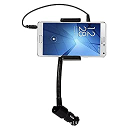 DeeXop Multifunctional FM Transmitter with USB Car Charging Function. Cell Phone Holders for iPhone Samsung HTC Nokia and Other Mobiles-Blac