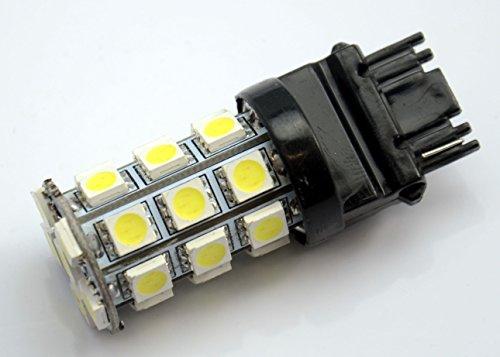 2 T20 3157 Pure White 5050 Smd 27 Led Tail Turn Signal Light Bulb Dc 12-24V