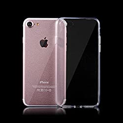 iSAVE Ultra Thin Soft Silicone Back Case Cover for Apple iPhone 7 (Transparent)
