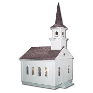 Amazon.com: Dollhouse Miniature Country Church Dollhouse Kit by RGT