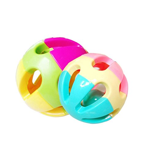 Baby-Kids-Pram-Crib-Amusement-Colorful-Plastic-Rattle-Shake-Bell-Ball-Toy-Random-Color