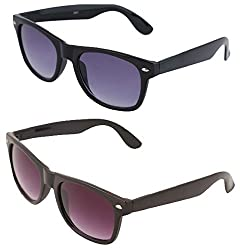 VAMA Wayfarer Sunglasses - COMBO OFFER (7556BBLBPL)