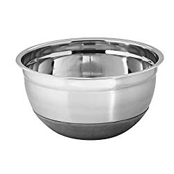 Montstar Professional Stainless Steel Extra Deep Mixing Bowls With Non Slip Silicone Base - 26 cm