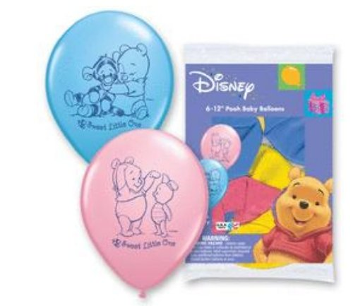 Disney Pooh Baby Balloon - 6pk - 1