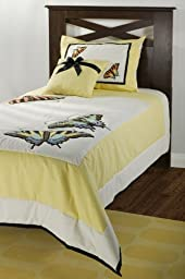 Rizzy Home BT-746T RizKidz Butterflies 3-Piece Quilt Set, Twin