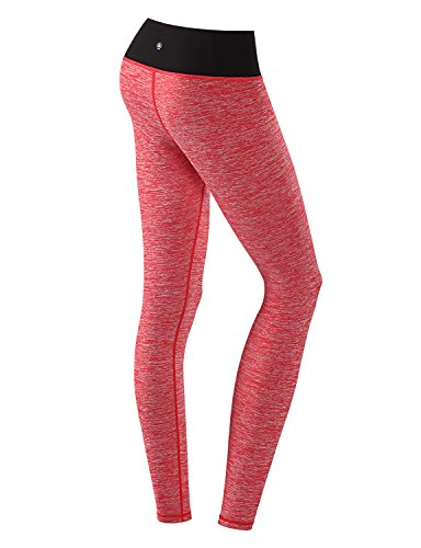 Yoga Reflex Women's Yoga Workout Running Leggings Pants Zipper Pocket (XS-2XL) , CoralHeather , Small (Pink Brand Yoga Pants compare prices)