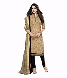 Khazanakart New Attractive Warm Cream Colour Indo Cotton Top,Bottom and Dupatta Fabric Bollywood Style Designer Salwar Suit Dress Material For Wome.