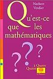 echange, troc N. Verdier - Qu'est-ce que les mathématiques ?