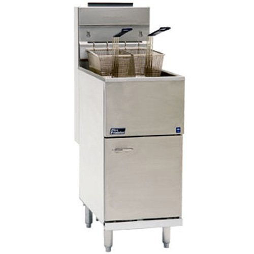 Pitco Commercial Fryer 35-40 Lb. Stainless Steel Tank Gas