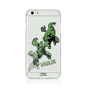 Hamee Original Marvel Character Licensed Designer Cover Slim Fit Clear Plastic Hard Back Case for iPhone 6 / 6s (Hulk / Jump)