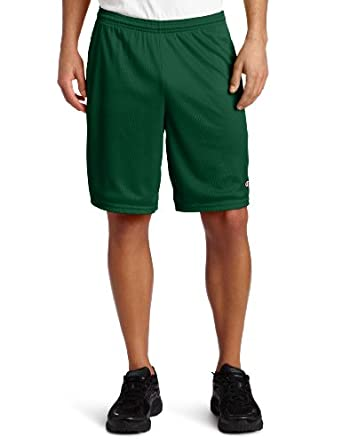 Champion 81622 Long Mesh Shorts with Pockets (S, ATHLETIC DARK GREEN)