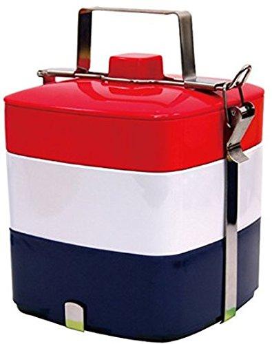 Primal Designs お弁当箱 3段 ピクニックスクエアボックス パッケージ付 国旗 フレンチ 3200ml