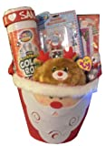 Christmas Santa Claus Gift Basket