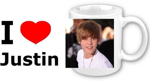 i love justin bieber posters. I Love Justin Bieber - Ceramic