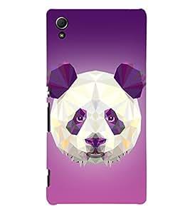 3D Vector Panda 3D Hard Polycarbonate Designer Back Case Cover for Sony Xperia Z3+ :: Sony Xperia Z3 Plus