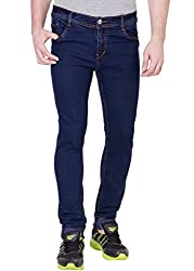 Aeroglide Navy Blue Stretchable Slim fit jeans (34)