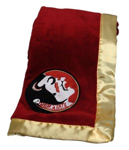 Pickles Embroidered Fleece Baby Blanket with Satin Trim - Florida State University