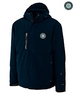 Seattle Mariners Mens WeatherTec Sanders Jacket Navy Blue by Cutter & Buck