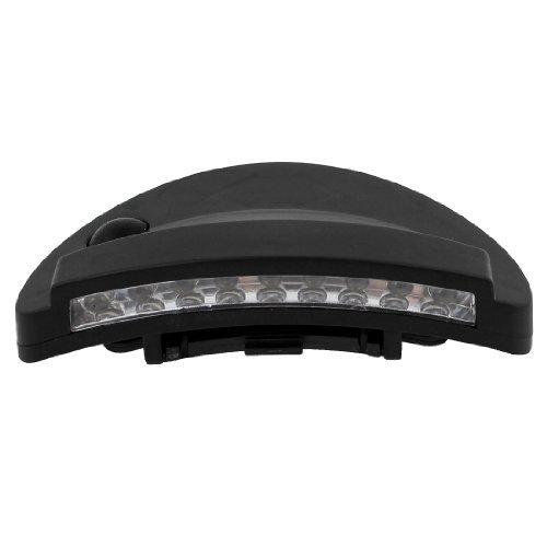 Dimart White 9 LED ON-OFF Type Clip On Outdoor Cap Flash Hat Light цены онлайн