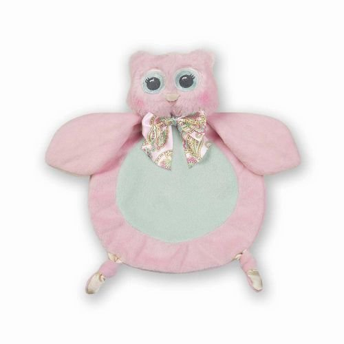 Bearington Baby Collection Wee Lil' Hoot Owl Snuggler Security Blanket