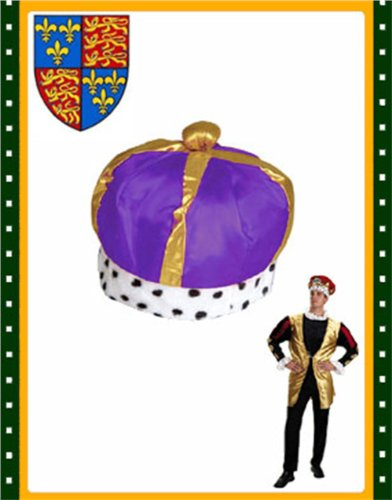 New Majestic Renaissance King Queen Purple Crown Hat