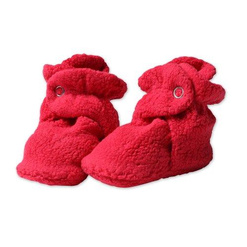 Zutano Newborn Unisex-Baby Fleece Bootie, Red, 6 Months