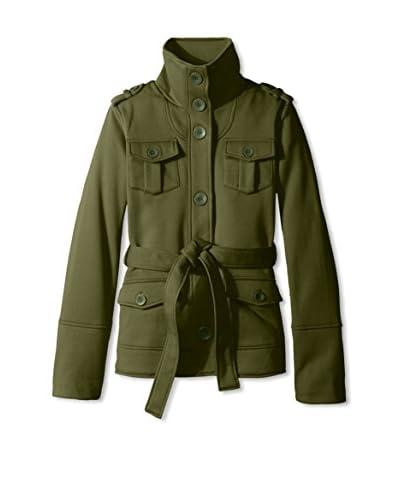 Yoki Women's Belted Fleece Jacket  [Black]