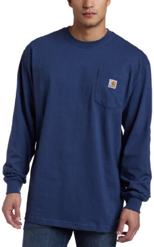 Carhartt Men's Workwear Pocket T-Shirt,Dark Blue,Medium Regular