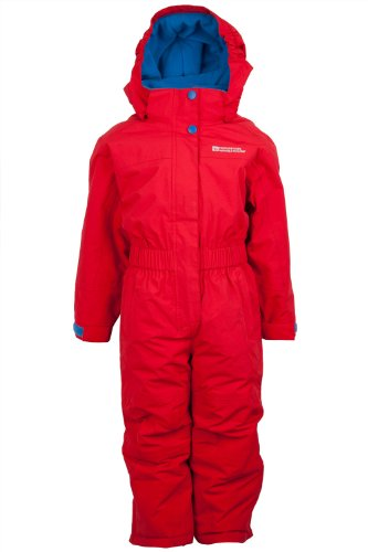 6201bf03a706 Mountain Warehouse Cloud Kids Padded All In One Snowsuit Reds 5 6 ...